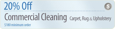 Cleaning Coupons | 20% off commercial cleaning | Brooklyn Rug Cleaners